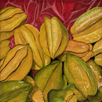 Carambolos, 2011, oil on canvas 19.7 X 19.7 in