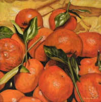 Mandarinas, 2011, oil on canvas 19.7 X 19.7 in