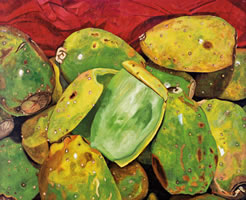 Tunas Verdes, 2010, oil on canvas 31.8 X 39.3 in