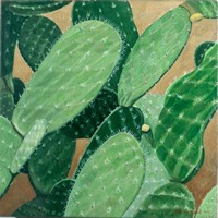 Nopales, 2000, oil on canvas