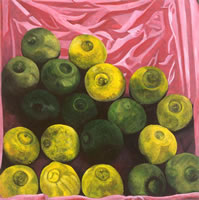 Limas, 2003, oil on canvas 35.4 x 35.4 in