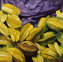 Carambolos, 2004, oil on canvas 35.4 x 35.4 in