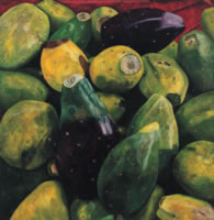 Tunas grandes, 2005, oil on canvas 59.1 x 59.1 in