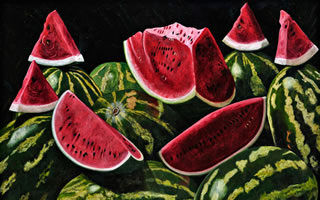 Sandias, 2011, oil on canvas 47.24 X 70.86 in