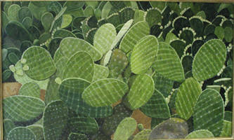 Nopales, oil on canvas